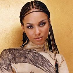 Acconciatura capelli afro Alicia Keys