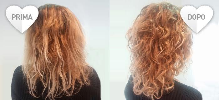 Cura dei capelli ricci: prima e dopo