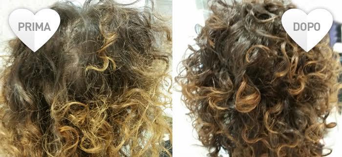 Shampoo per capelli ricci: prima e dopo