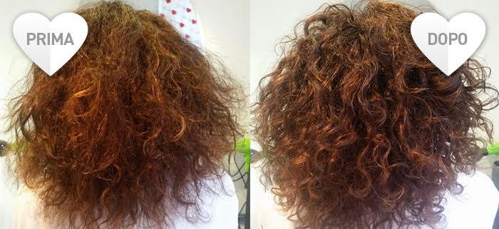 Consigli per la cura dei capelli ricci - prima e dopo il trattamento