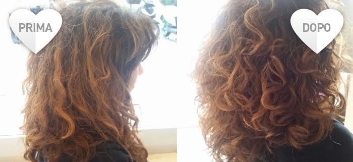 Rimedi per capelli crespi e grassi - prima dopo il trattamento