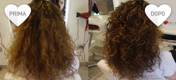 Rimedi per capelli crespi - prima e dopo il trattamento