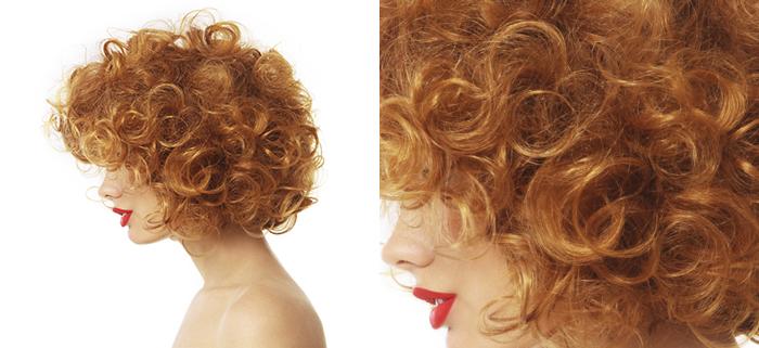 Foto capelli ricci dopo tinta bio