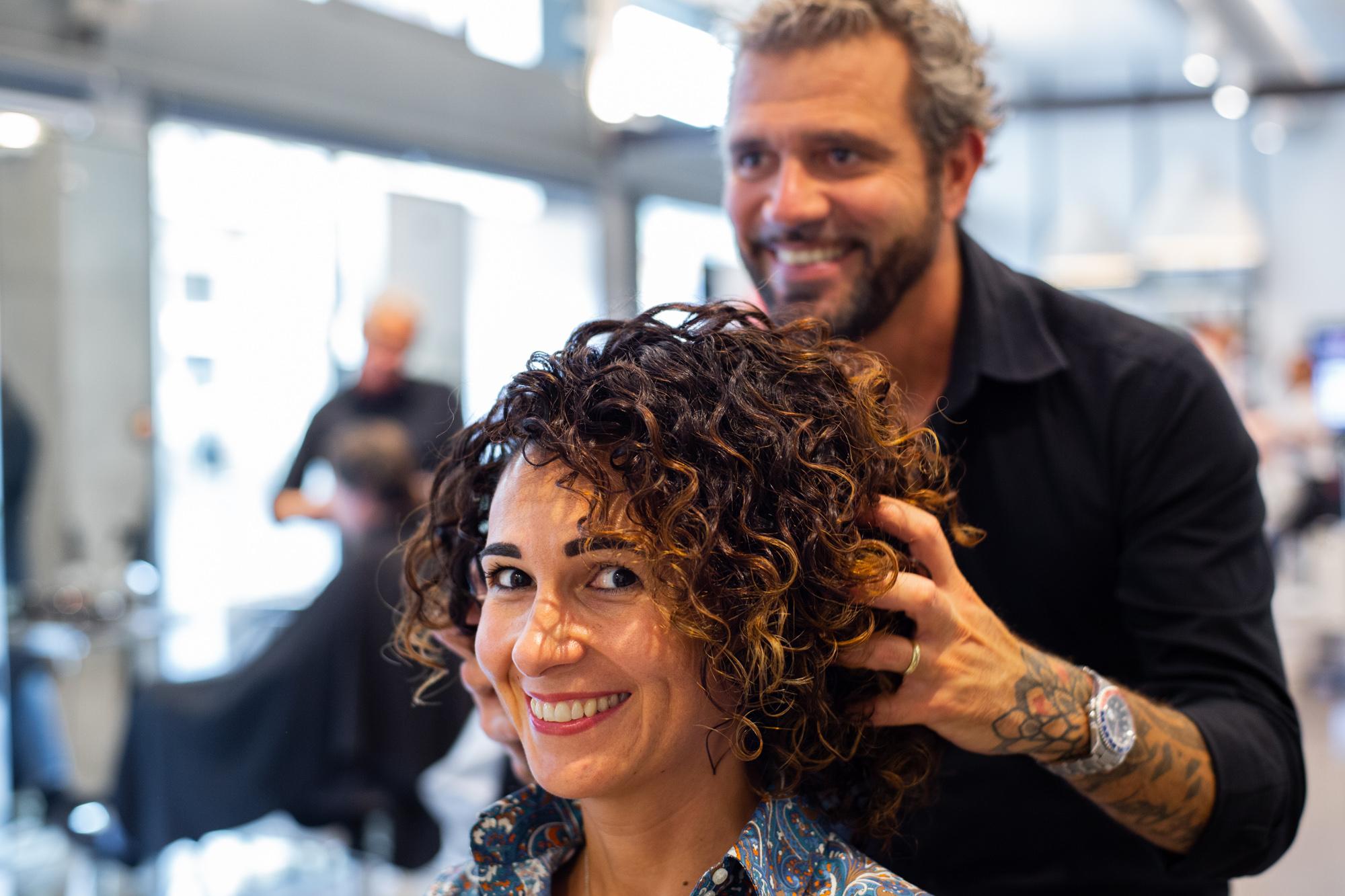 taglio capelli ricci